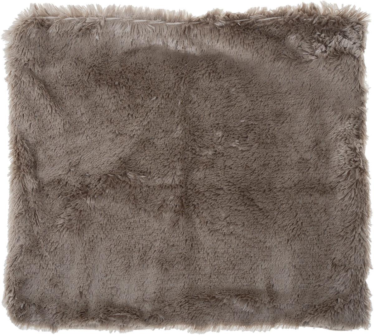 """Наволочка Buenas Noches """"Длинный ворс"""", цвет: серый, 48 х 48 см"""