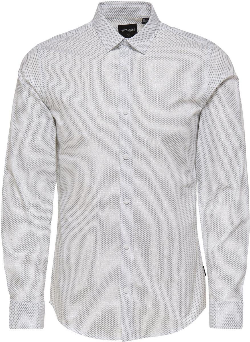 Рубашка мужская Only & Sons, цвет: белый. 22008735. Размер L (50) virtue мужская рубашка бизнес стиль
