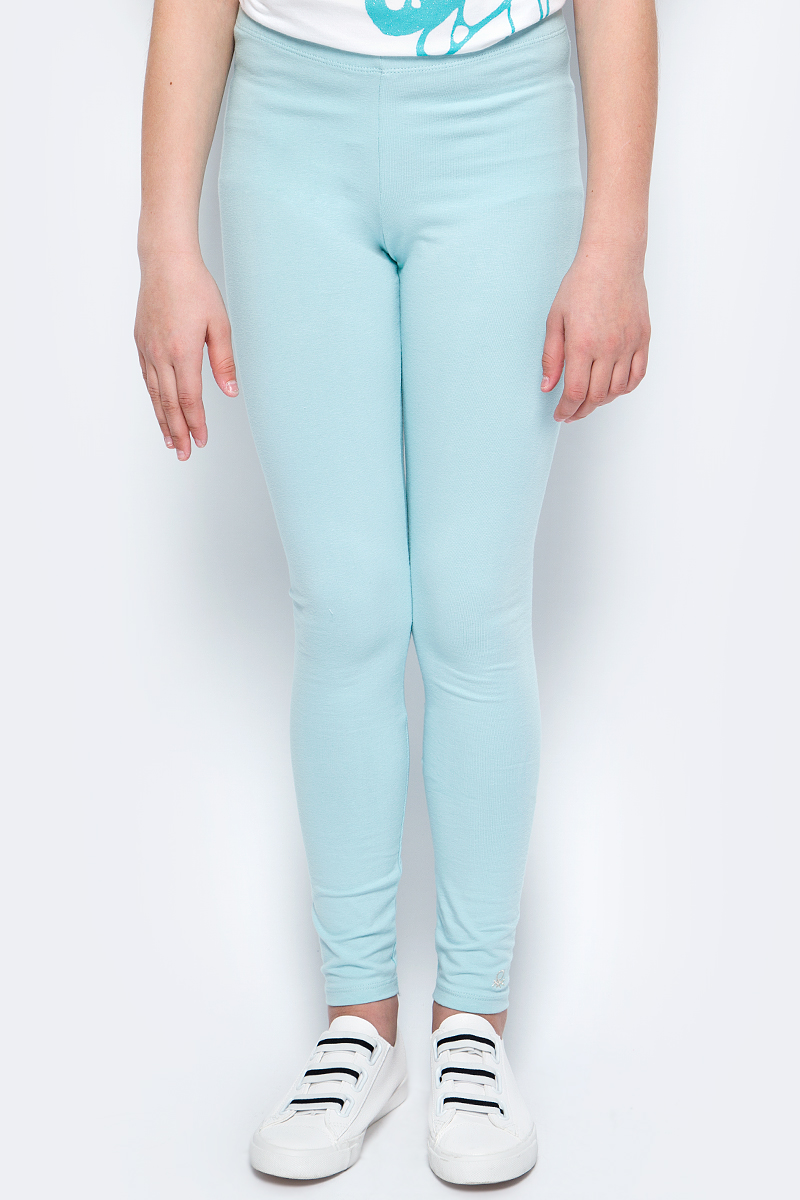 Леггинсы для девочки United Colors of Benetton, цвет: голубой. 3MT1I0640_0N5. Размер 160