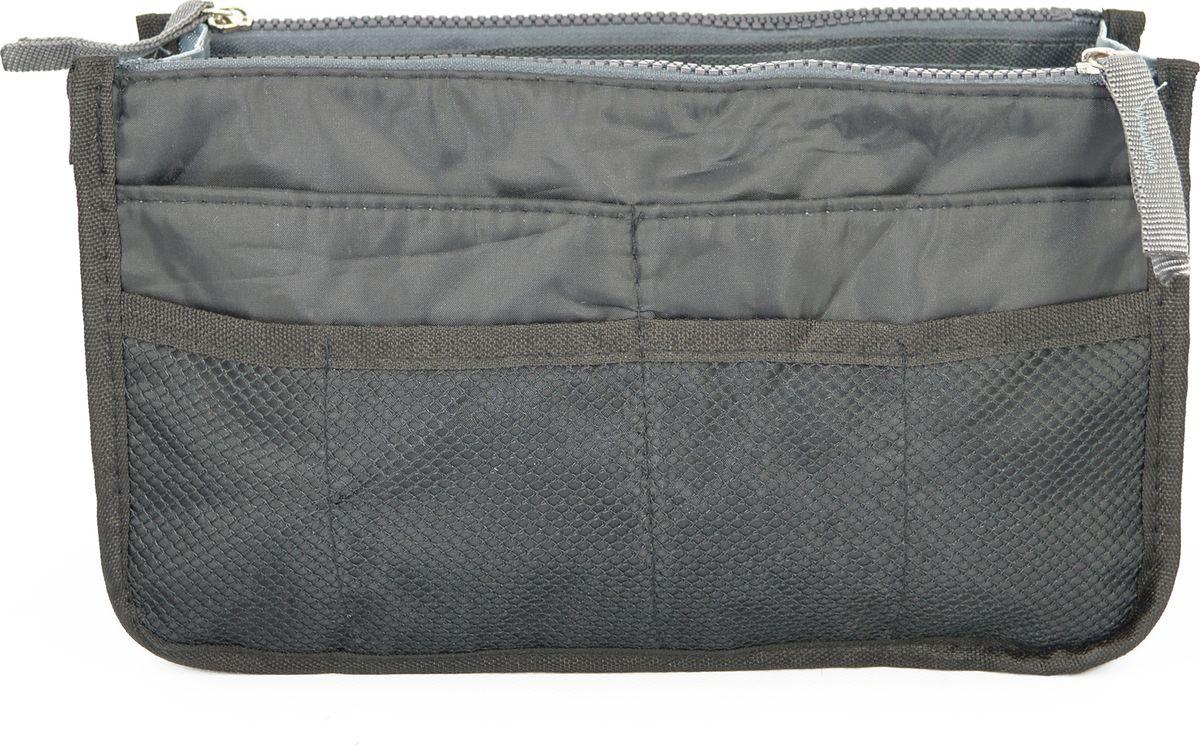 Органайзер-вкладыш для сумочки женский Kingth Goldn, цвет: черный. УТ-00000350