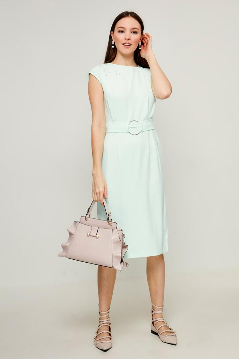 Платье Zarina, цвет: бирюзовый. 8123021521019. Размер 52 брюки zarina zarina za004ewxrm01