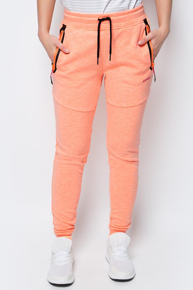 Брюки спортивные женские Icepeak, цвет: оранжевый. 954201621IV_448. Размер 40 (46) брюки утепленные женские icepeak цвет темно синий 854020542iv 390 размер 34 40