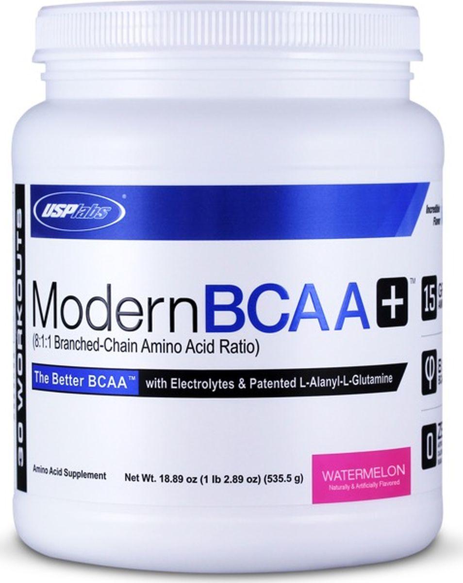 Комплекс аминокислот USPlabs Modern BCAA+, арбуз, 1,34 кг аминокислотный комплекс vplab bcaa 2 1 1 арбуз 300 г