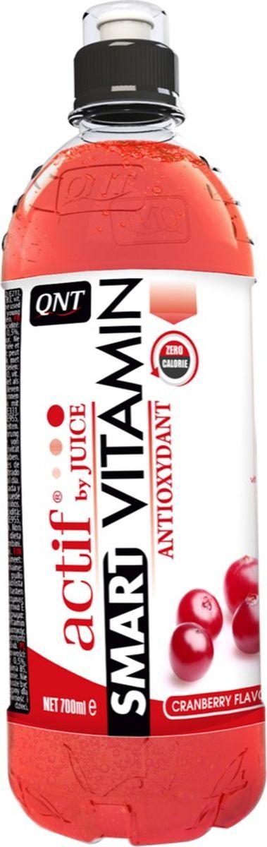 Витамины QNT Smart Vitamin, клюква, 700 млQNT1152Освежающий напиток без калорий, Smart Vitamin содержит все витамины и антиоксиданты, необходимые для жизненного тонуса. На основе натурального клюквенного сока доставляет удовольствие в любое время дня или после тренировки.Состав:Вода, регуляторы кислотности (E330 / E331), консерванты (E202 / E211), клюквенный сок от концентрата 0,5%, подсластитель (E955), красители (E102 / E122 / E133), витамин B3, витамин C, B5, E, B6, A, B12.
