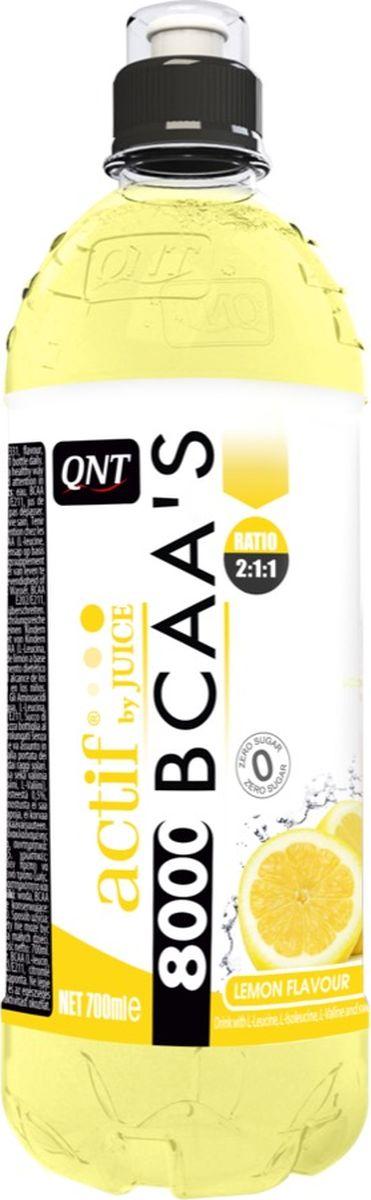 Комплекс аминокислот QNT BCAA'C 8000, лимон, 700 мл l карнитин qnt 3000 25 мл 20 ампул