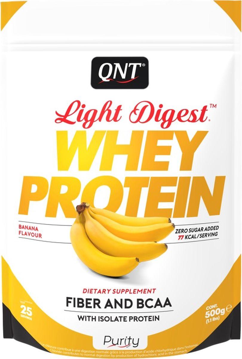 Протеин QNT Light Digest Whey Protein, банан, 500 гPUR0012Протеин QNT Light Digest Whey Protein - это новое поколение белковых порошков, в основе которых присутствует сывороточный протеин. Легкий, быстро усвояемый, может быть использован в любой программе как для мышечного тонуса, так и для похудения или восстановления.Light Digest Whey Protein можно смешивать с молоком или водой, он будет одинаково вкусный и легко усвояемый, благодаря инулиновым волокнам и сыворотке изолята. Продукт не содержит глютен.Состав:Молочные белки (концентрат сывороточного белка (содержит молоко), изолят сывороточного белка (содержит молоко), инулин, ароматизатор, загустители (E412 / E415), хлорид калия, подсластитель (E955), натуральный лимонный порошок. Как повысить эффективность тренировок с помощью спортивного питания? Статья OZON Гид