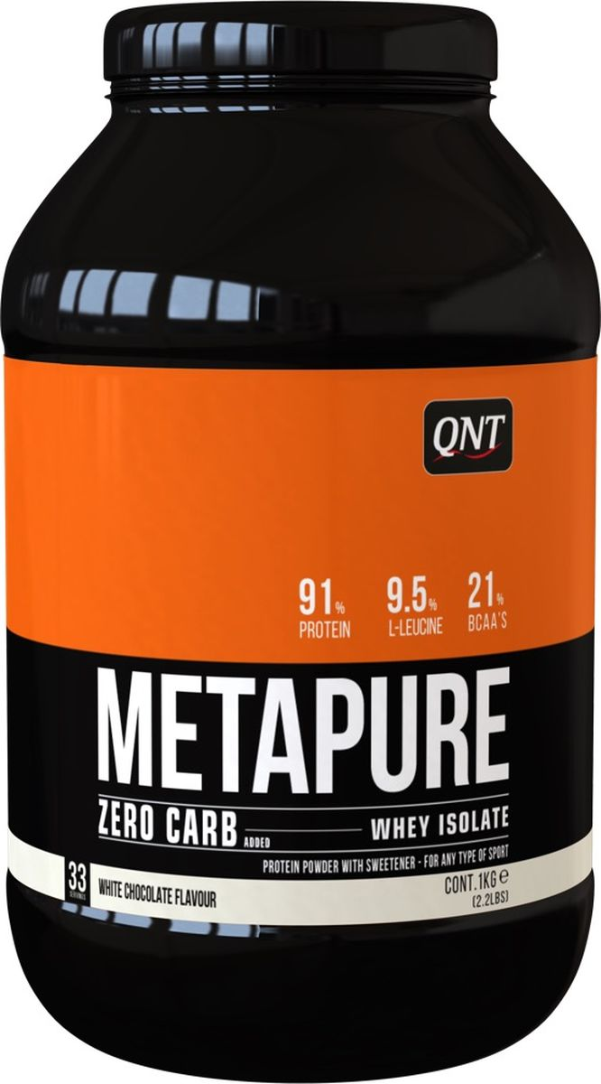"Изолят QNT ""Metapure Zero Carb"", белый шоколад, 1 кг"