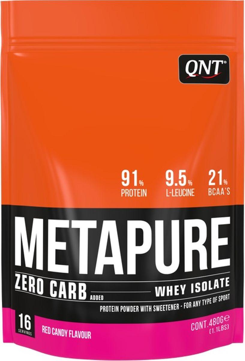 Изолят QNT Metapure Zero Carb, красная конфета, 480 гQNT1234Изолят QNT Metapure Zero Carb изготовлен из изолята сывороточного протеина - самой чистой формы протеина, существующей на рынке. Изолят состоит из простых аминокислот и из большого количества аминокислот с разветвленными боковыми цепями (ВСАА). Они являются наиболее важными для восстановления и роста мышц. Изолят быстро и полностью растворяется в воде, без образования комочков или осадка. Это чистейший изолят без жиров, холестерина, лактозы и углеводов. Metapure Zero Carb абсорбируется и усваивается организмом быстрее любой белковой формулы.Состав:Изолят сывороточного протеина (молоко), ароматизатор, подсластитель (E955). Информация об аллергене: может содержать следы молока, сои.Как повысить эффективность тренировок с помощью спортивного питания? Статья OZON Гид