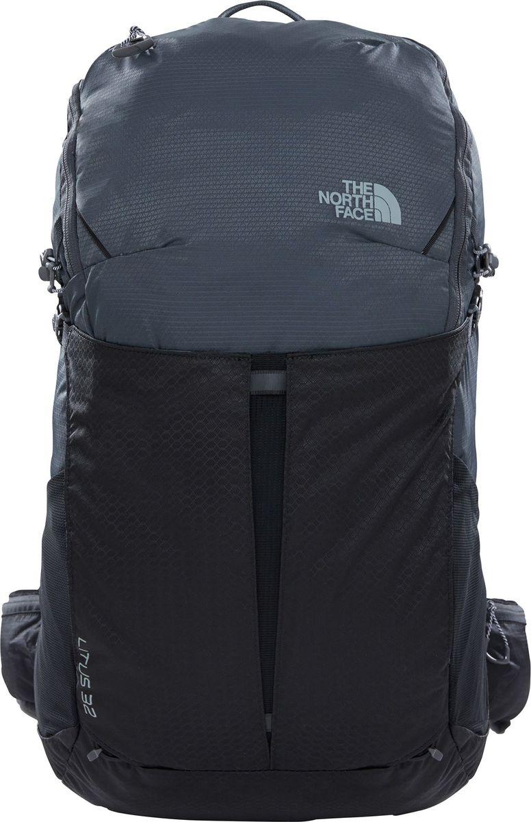 Рюкзак The North Face Litus 32-Rc, цвет: черный. T92ZDWMN8. LXLT92ZDWMN8Максимальный комфорт для непродолжительных быстрых восхождений. Наполненный необходимыми технологиями рюкзак позволяет разместить обязательный минимум вещей. Анатомическая, хорошо вентилируемая спинка NextVent рюкзака и поясной ремень оптимально распределяют нагрузку. Рюкзак выполнен из прочной ткани. Удобный доступ в основное отделение. Внутренние и внешние карманы для мелких вещей, карман для маски или очков. Крепление для инструмента. Рюкзак совместим с питьевой системой. Регулируемая спина рюкзака. Чехол от дождя. Вес - 879 g Объем - 32 Литров Ткань, основная часть - 100D Geo Отделение для обуви - 210D GeoBlock