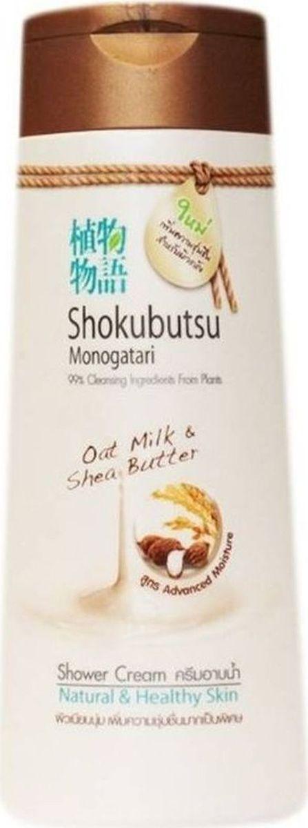 Shokubutsu Крем-гель для душа Lion Oat Milk (Овсяное молочко и масло Ши), 200 мл