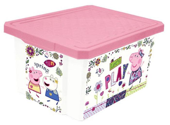 Ящик для хранения детский Little Angel Свинка Пеппа. Cute Peppa, цвет: розовый, 17 лLA3708РР-НКПорядок в детской с любимыми героями – легко и весело. Теперь для игрушек,канцелярских принадлежностей и других важных мелочей всегда найдетсяместо. Эксклюзивный декор с любимыми героями несомненно станетукрашением каждой детской. Преимущества: эксклюзивный декор слюбимыми героями; надежная крышка с привлекательной текстурой;возможность штабелирования ящиков друг на друга.
