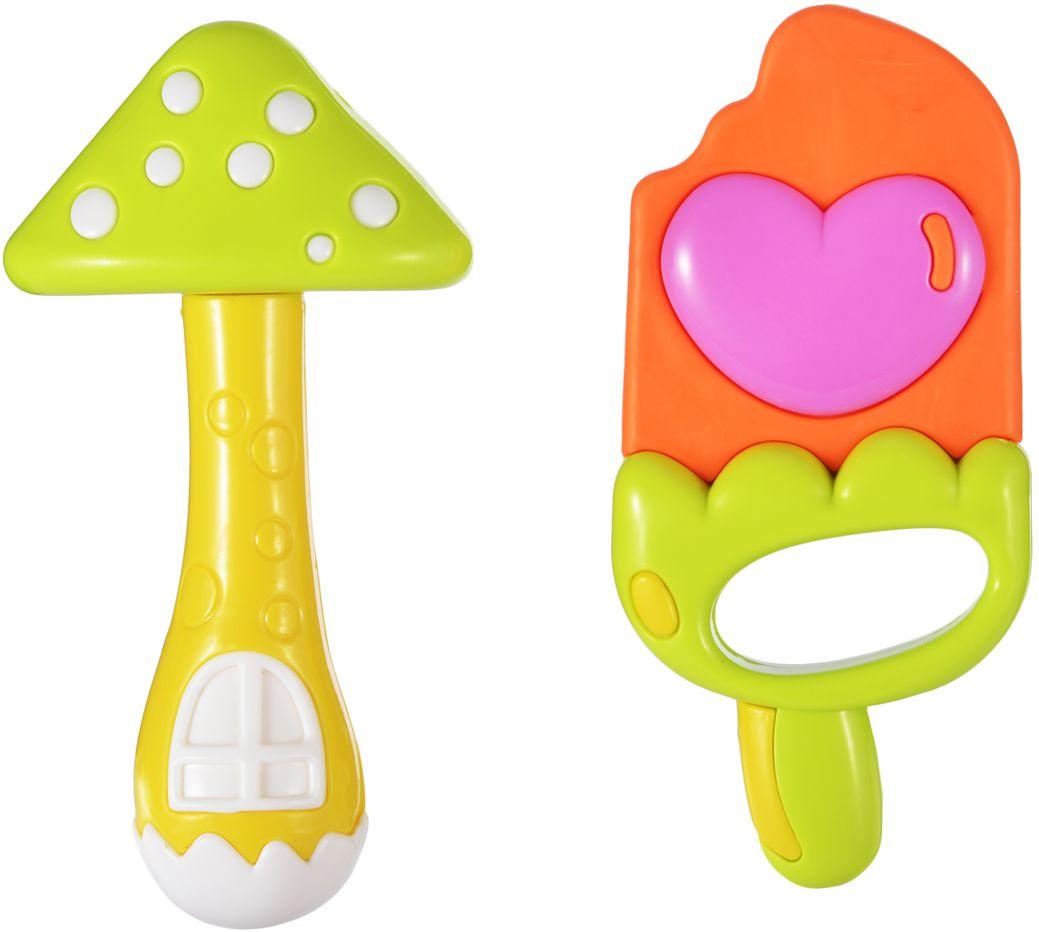 Жирафики Набор погремушек Эскимо и грибок 2 шт набор игрушек погремушек малышарики 10 шт