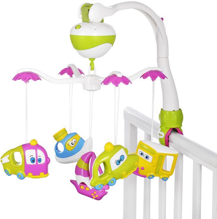 Жирафики Мобиль музыкальный Тачки игрушки для новорождённых