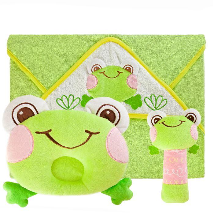 Жирафики Подарочный набор Забавный лягушонок 3 предмета арт дизайн подарочный набор открытка с ручкой 0701 051