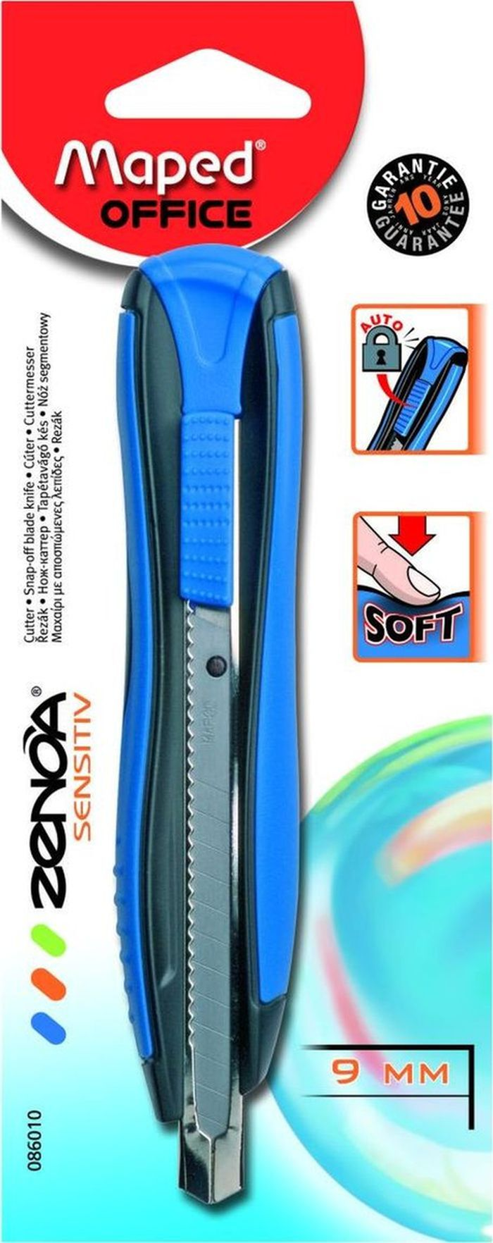 Maped Нож канцелярский Zenoa Sensetiv цвет синий -  Канцелярские ножи и ножницы