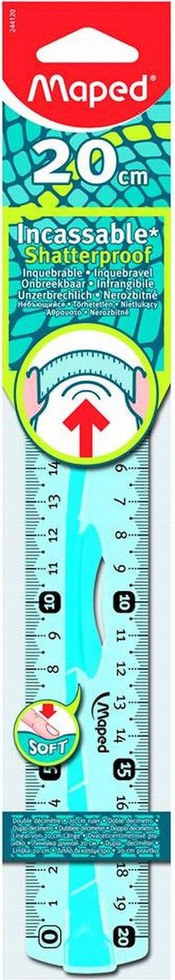 Maped Линейка Flex цвет бирюзовый 20 см линейка maped green logic flex 30 см