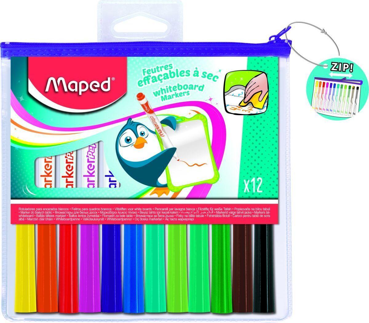 Maped Набор маркеров для магнитно-маркерных досок 12 цветов