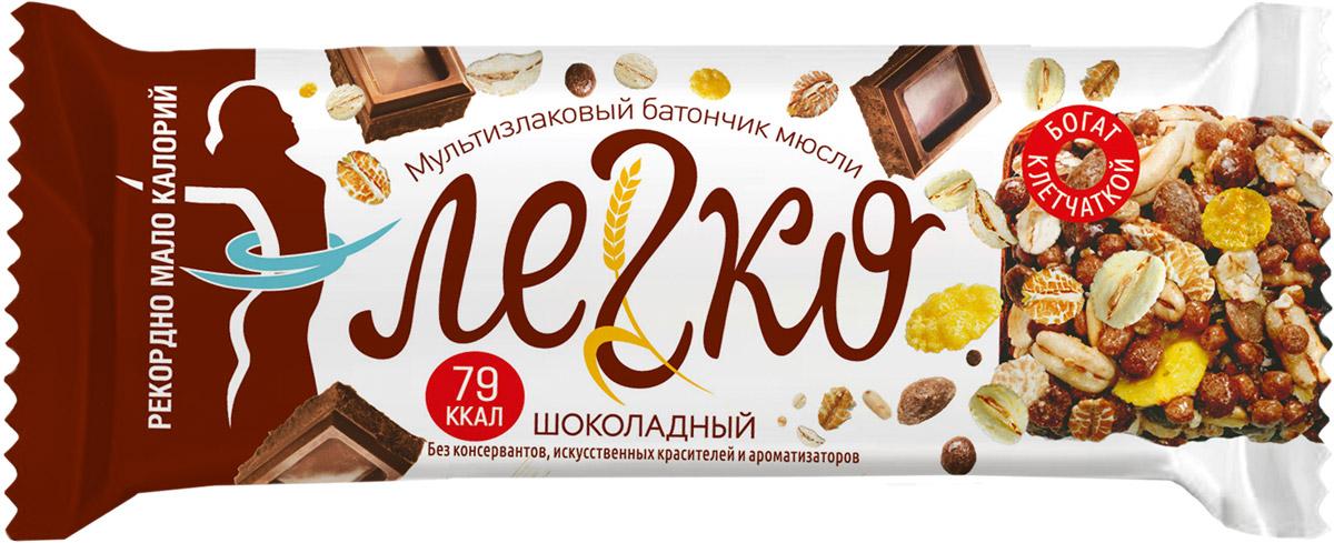 Легко батончик мюсли шоколад, 27 г конфеты шоколадные kinder choco bons 46 г