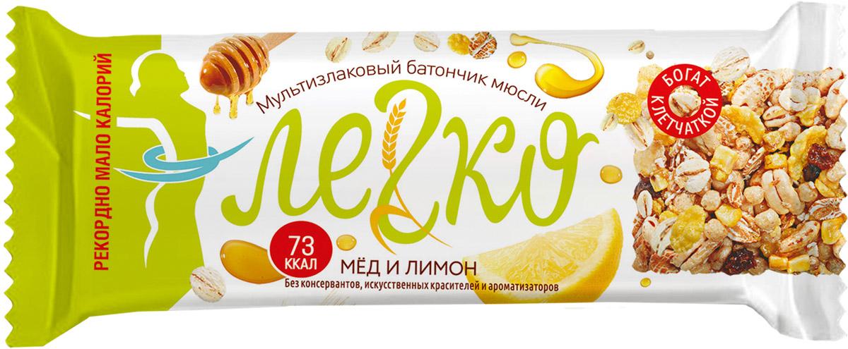 Легко батончик мюсли мед с лимоном, 27 г пастилки дыши с медом и корицей