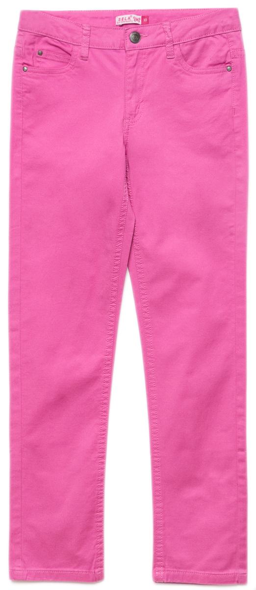 Брюки для девочки Sela, цвет: розовый. P-615/1050-8161. Размер 152, 12 лет брюки для девочки sela цвет фиолетово синий p 615 1050 8161 размер 152 12 лет