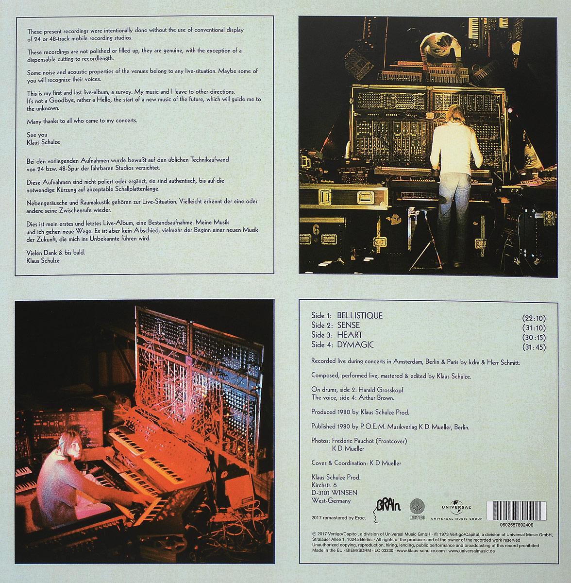 Klaus Schulze.  Live (2 LP) Brain