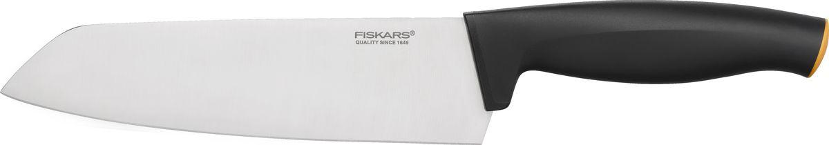 Нож кухонный Fiskars Functional Form, цвет: черный, длина лезвия 17 см