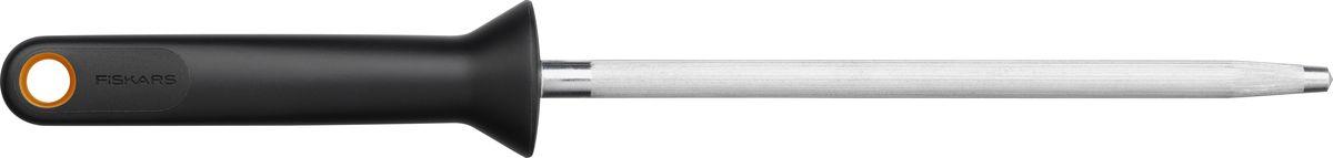Мусат Fiskars Functional Form, цвет: черный1014226Инструмент из прочной нержавеющей стали для заточки ножей.Ручка изготовлена из усиленного пластика с нескользящим покрытием Softgrip.Можно мыть в посудомоечной машине.