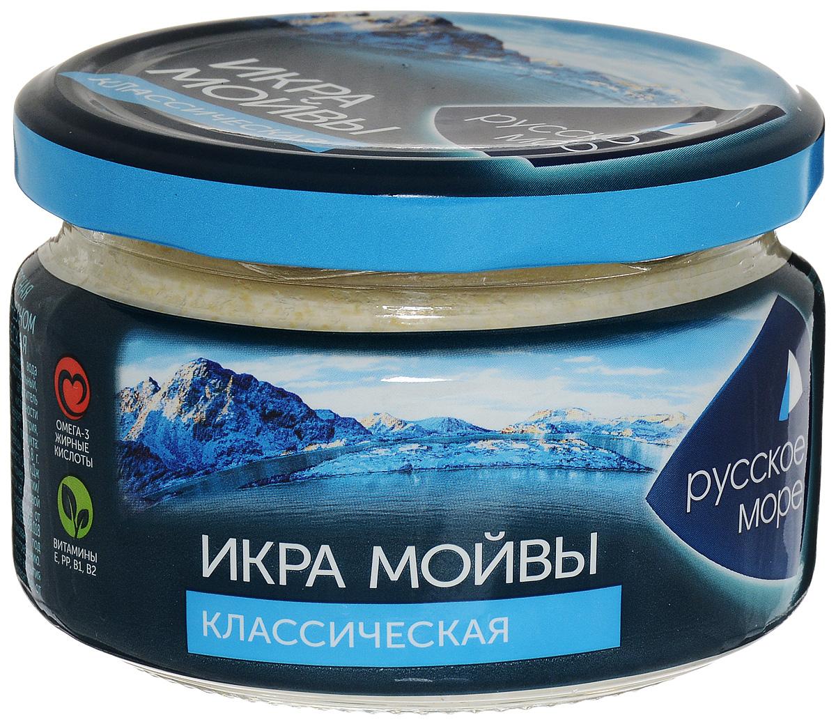 Русское Море Икра Мойвы в майонезном соусе, классическая, 165 г