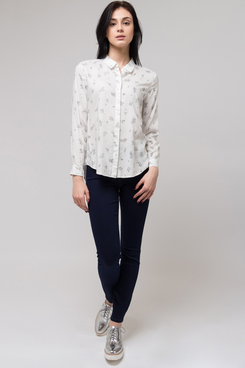 Джинсы женские Sela, цвет: темно-синий джинс. PJ-335/010-8122. Размер 30-32 (46/48-32) джинсы женские artka kn14230x kn14230w