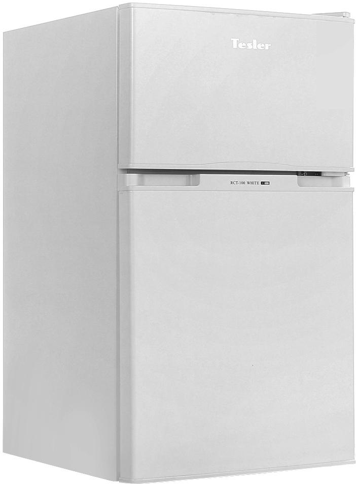 Tesler RCT-100, White холодильник двухкамерный холодильник tesler rct 100 black