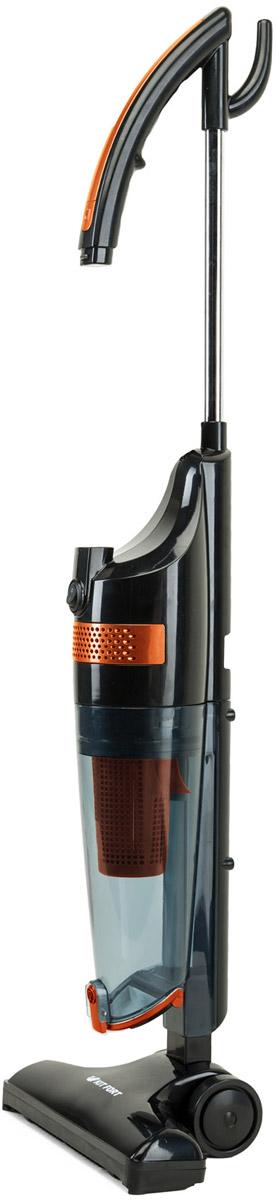 Kitfort КТ-525, Orange вертикальный пылесосКТ-525-1Компактный пылесос Kitfort КТ-525 всегда готов к работе. Он занимает мало места при хранении, а во время работыблагодаря своейманевренности может легко вписаться в узкий коридор или комнату, заполненную различными предметами. Длявладельцев небольших квартир,которые сталкиваются с проблемой, где же хранить пылесос, приобретение модели с вертикальной парковкойбудет оптимальным вариантом.Конструкция 2 в 1 предусматривает трансформацию вертикального пылесоса в ручной. После нажатияна кнопку ручка пылесосаскладывается, и вы можете продолжить уборку ручным пылесосом, которым удобно пылесосить углы и плинтусы,обивку мебели, пыль сошкафов.Возможности и функции:- ручной пылесос- циклонный фильтр- моющиеся пылесборник и фильтр- вертикальная парковка (пылесос может стоять на полу вертикально).