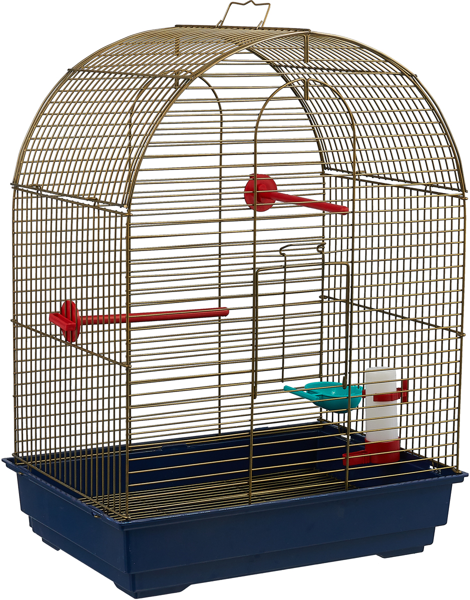 Клетка для птиц Велес Lusy Gold, разборная, цвет: серый, хаки, 30 х 42 х 65 см усы самостраховки vento веревочные цвет темно синий 65 х 65 см