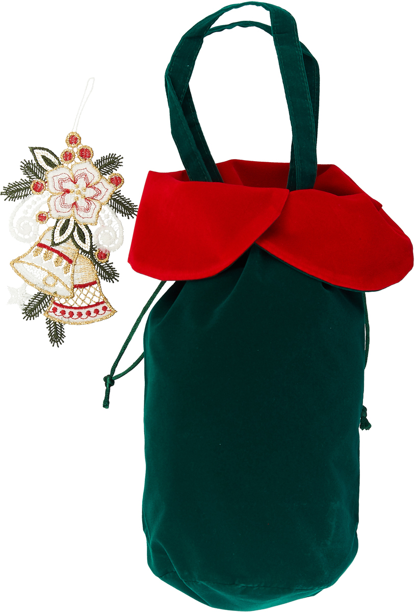 Мешочек подарочный Правила Успеха Колокольчик, цвет: зеленый, 11 х 30 см пакет подарочный правила успеха щелкунчик 30 х 38 см