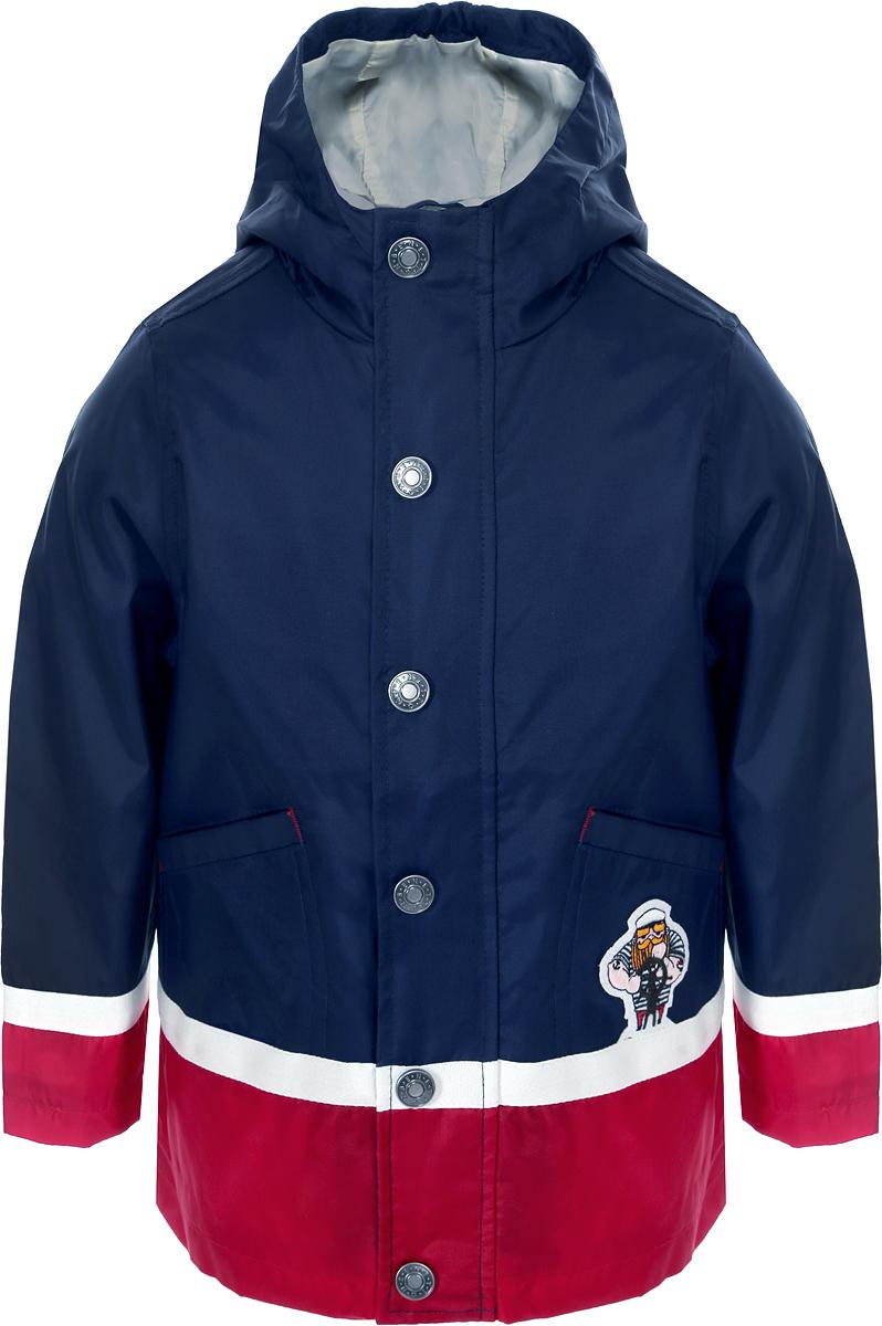 Куртка для мальчика United Colors of Benetton, цвет: синий. 2EH85323P_13C. Размер 1102EH85323P_13CЛегкая куртка от United Colors of Benetton выполнена из нейлона с полиуретановой пропиткой. Модель с длинными рукавами и капюшоном застегивается на кнопки, по бокам дополнена втачными карманами.
