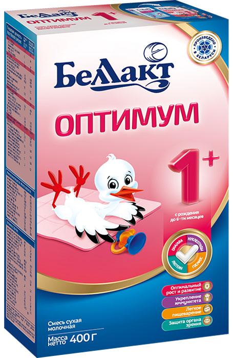 Беллакт Оптимум 1+ смесь молочная сухая с рождения, 400 г беллакт км 1 смесь кисломолочная сухая с рождения 400 г