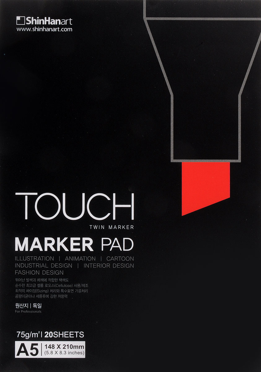 Touch Альбом для рисования Marker Pad A5 20 л korg m3xp 61 61 touch pad touch pad