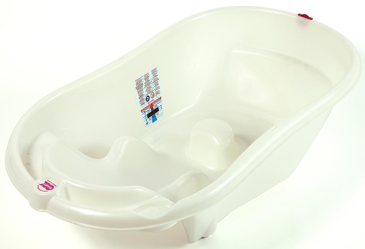 OkBaby Ванночка детская Onda Evolution с подставкой цвет белый детские ванночки bebe jou ванночка для купания круглая мамин животик