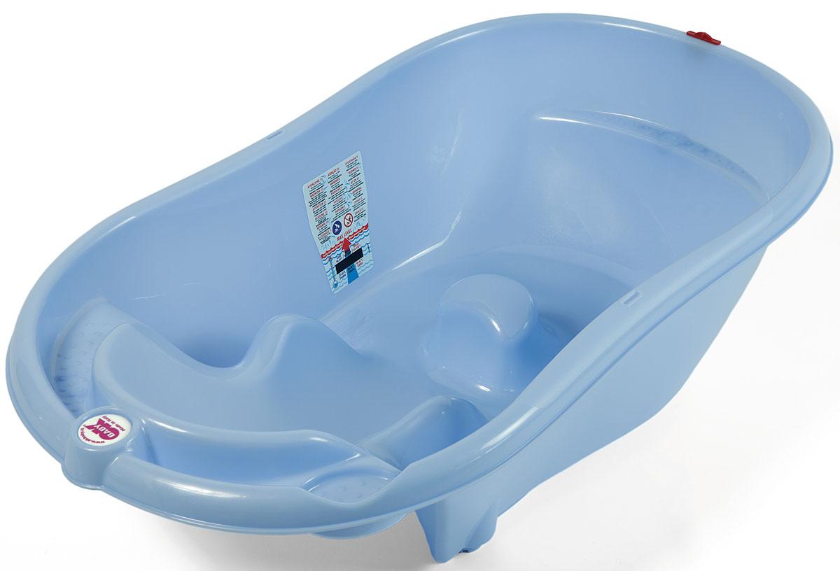 OkBaby Ванночка детская Onda Evolution с подставкой цвет синий детские ванночки bebe jou ванночка для купания круглая мамин животик