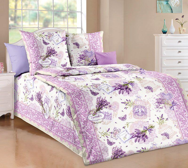 Комплект белья Текс Дизайн Лаванда, 1,5-спальный, наволочки 70x70. 1100А комплект белья текс дизайн леопард 2 спальный наволочки 70x70 2100б