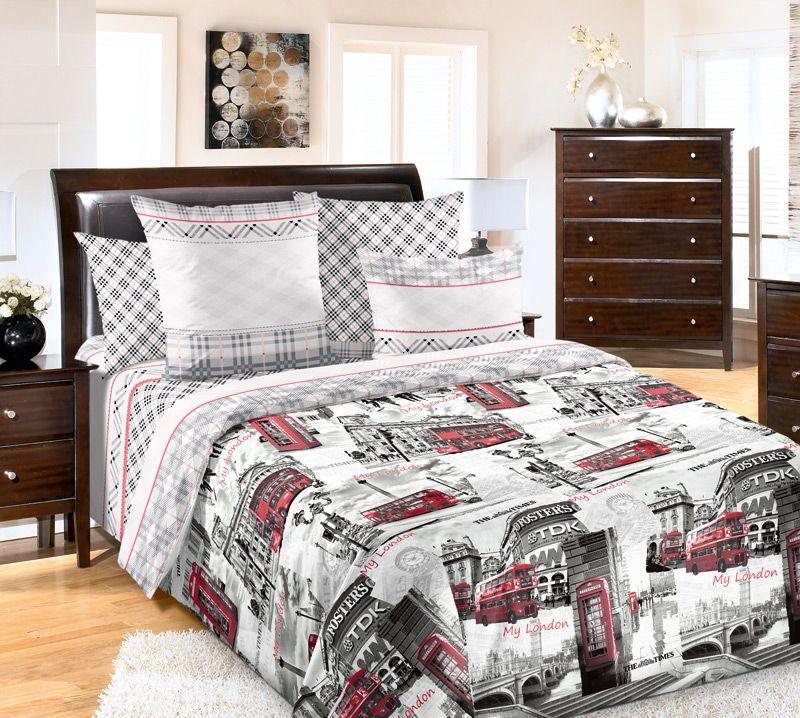 Комплект белья Текс Дизайн Лондон, 2-спальный, наволочки 70x70. 2100Б комплект белья текс дизайн леопард 2 спальный наволочки 70x70 2100б