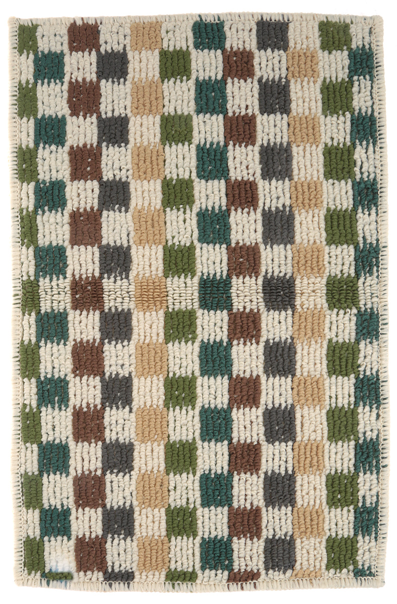 Коврик придверный Vortex Monreal, цвет: зеленый, бежевый, серый, 38 х 58 см. 22430 коврик придверный 35х60 см черный свинка vortex 20028