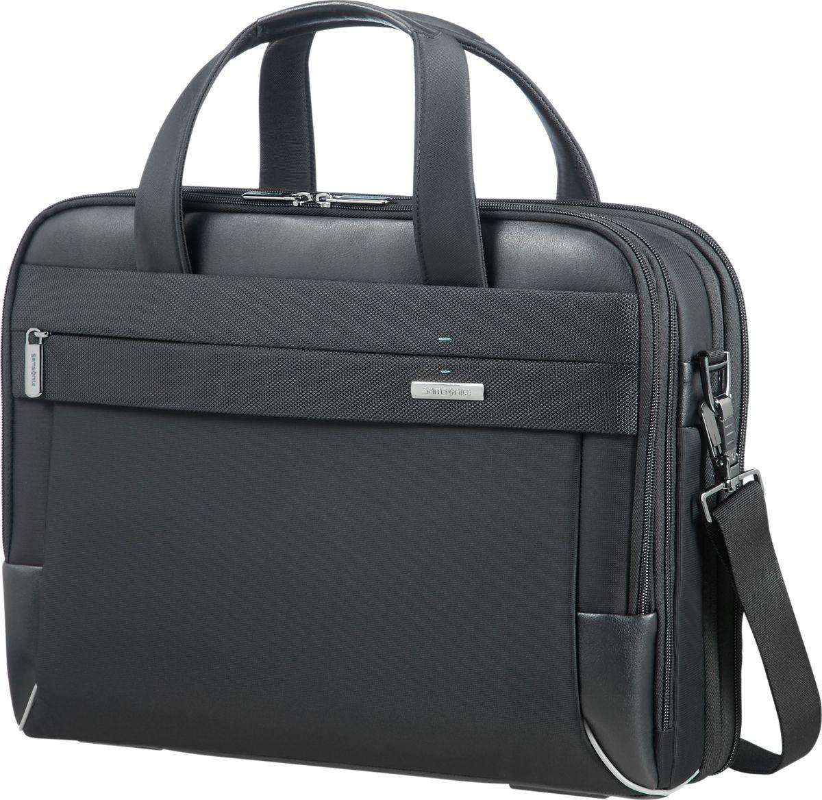 Сумка для ноутбука мужская Samsonite, цвет: черный, 15,6. CE7-09004 samsonite samsonite тотализатор apple macbook air pro рукав портативный компьютер сумка 13 3 дюймовый ноутбук сумка bp5 09001 черный