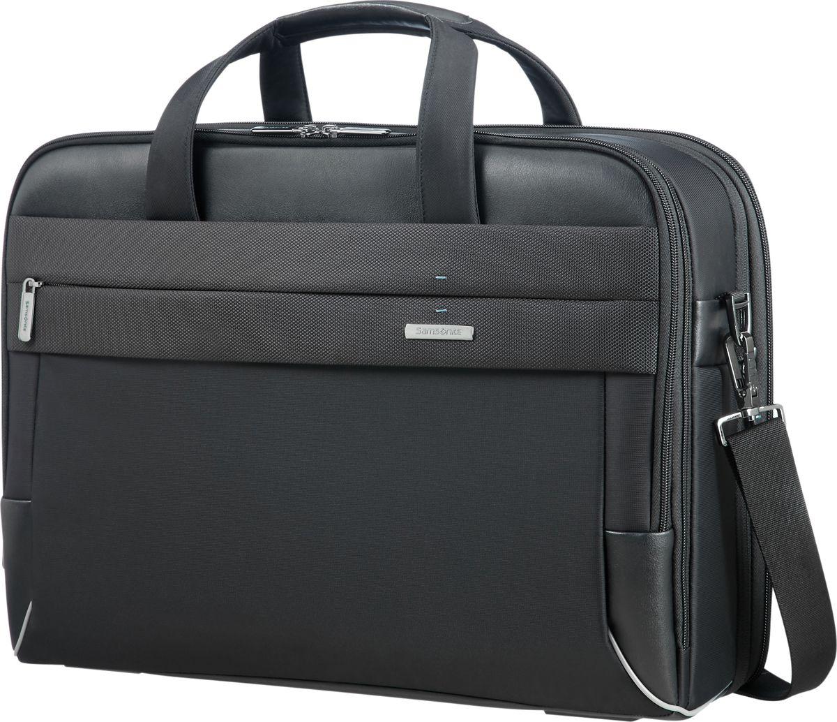 Сумка для ноутбука мужская Samsonite, цвет: черный, 17,3. CE7-09005 samsonite samsonite тотализатор apple macbook air pro рукав портативный компьютер сумка 13 3 дюймовый ноутбук сумка bp5 09001 черный