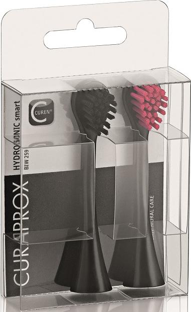 Curaden BIW259 Набор насадок для звуковой зубной щетки Black Is White - Товары для гигиены