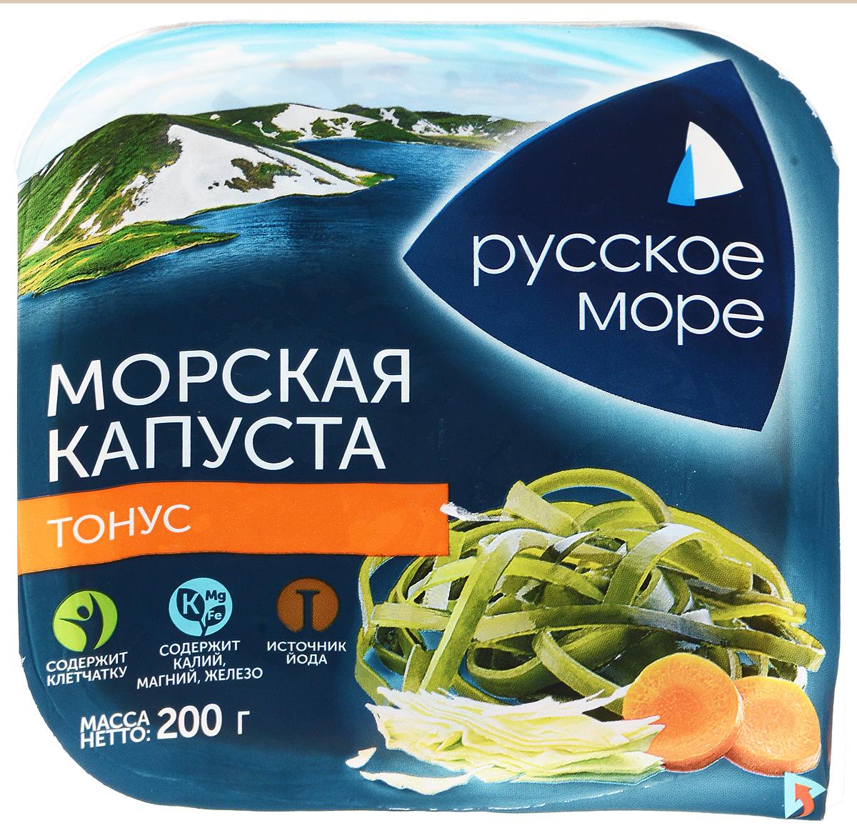 Русское Море Капуста морская маринованная Тонус, 200 г