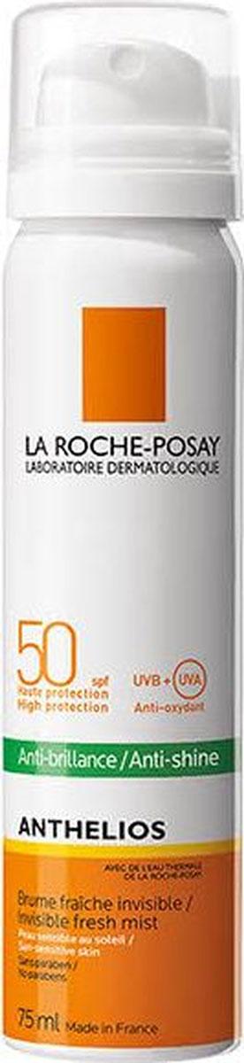 La Roche-Posay Матирующий спрей-вуаль SPF 50+ Anthelios, 75 млM9165700Первый матирующий спрей-вуаль с очень высокой защитой от UVA- и UVB-лучей. Заметно сокращает жирный блеск в течение дня. Увлажняет кожу на 24 часа. Ультра-легкая текстура: не оставляет белых следов, невидима на коже после нанесения. За счет формата спрея удобен в нанесении.Можно наносить поверх макияжа. Подходит для жирной, нормальной кожи и даже для чувствительной к солнечным лучам коже.
