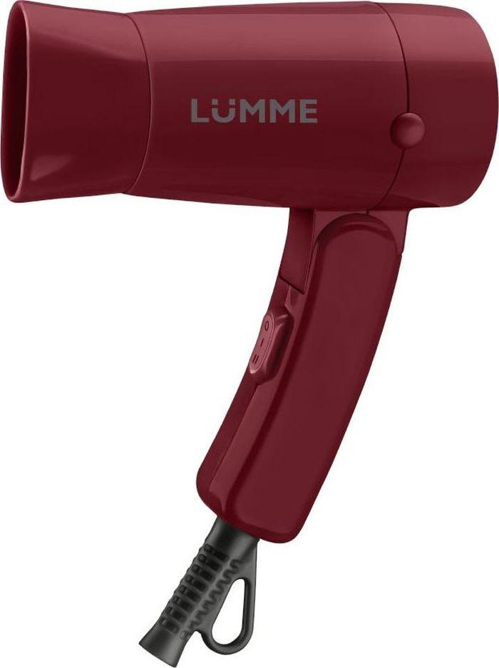 Lumme LU-1040, Red Garnet фенLU-1040Lumme LU-1040 - компактный 1.2-киловаттный фен из высококачественного термостойкого пластика с двумя режимами мощности для выбора оптимального воздушного потока.Идеален, чтобы брать его с собой в дорогу или хранить в небольшом ящике с одеждой. Благодаря складной ручке фен занимает минимум места при хранении и транспортировке.Удобный переключатель мощности воздушного потока на два положения: для бережной укладки или интенсивной сушки волос.Концентратор для укладки волос позволит точнее направлять воздушный поток, а удобная петелька для подвешивания - хранить фен всегда под рукой.Полную безопасность при использовании фена обеспечивает функция автоматического отключения при перегреве.Компактный фен дома и в путешествии - это гарантия отличной прически на каждый день.