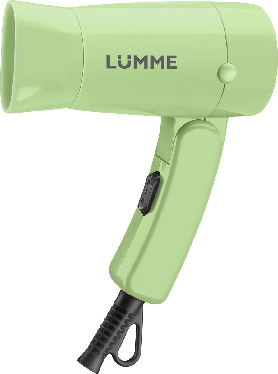 Lumme LU-1040, Green Jade фенLU-1040Lumme LU-1040 - компактный 1.2-киловаттный фен из высококачественного термостойкого пластика с двумя режимами мощности для выбора оптимального воздушного потока.Идеален, чтобы брать его с собой в дорогу или хранить в небольшом ящике с одеждой. Благодаря складной ручке фен занимает минимум места при хранении и транспортировке.Удобный переключатель мощности воздушного потока на два положения: для бережной укладки или интенсивной сушки волос.Концентратор для укладки волос позволит точнее направлять воздушный поток, а удобная петелька для подвешивания – хранить фен всегда под рукой.Полную безопасность при использовании фена обеспечивает функция автоматического отключения при перегреве.Компактный фен дома и в путешествии – это гарантия отличной прически на каждый день.