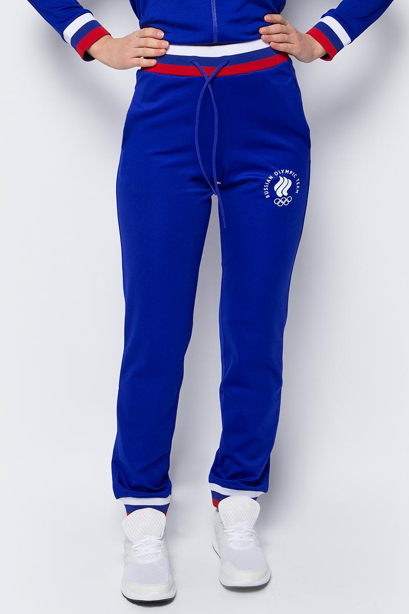Брюки спортивные женские ZASPORT, цвет: синий. OFA217-078/005-BLU. Размер XS (42)OFA217-078/005-BLUСпортивные брюки от ZASPORT выполнены из эластичного полиэстера. Модель с эластичной резинкой на талии и регулируемым шнурком по бокам дополнена втачными карманами. Брючины по низу имеют широкие трикотажные манжеты.