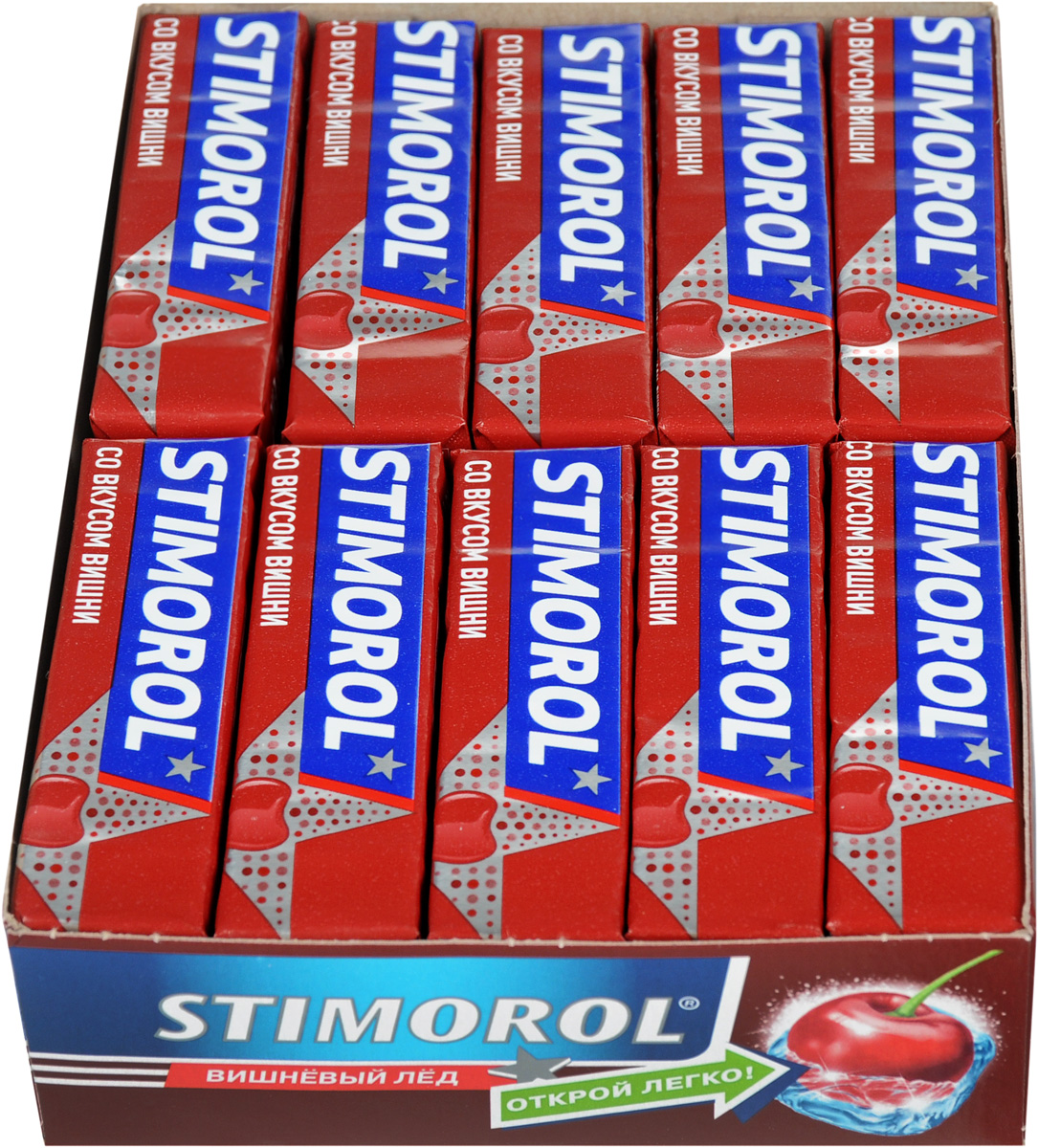Stimorol Вишневый лед жевательная резинка без сахара, 30 пачек по 13,6 г 1pcs 13 20cm 8 styles plants vs zombies plush toys soft stuffed plush toys for kids gifts baby birthday party toys doll